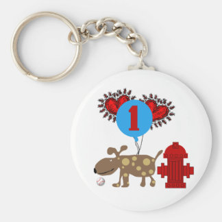 Dog 1st Birthday T shirts and Gifts Keychain