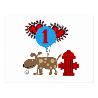 Dog 1st Birthday T shirts and Gifts Postcards