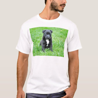dog-280332 YOUNG DOG BLACK PUPPY ADORABLE PETS GRE T-Shirt