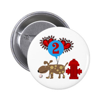 Dog 2nd Birthday Tshirts and Gifts Pinback Button
