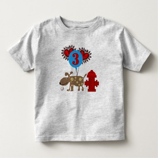 Dog 3rd Birthday Toddler T-shirt
