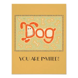 Dog 4.25x5.5 Paper Invitation Card
