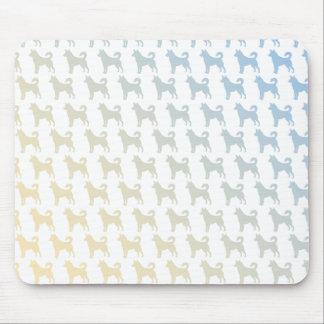 Dog 50/50 sunset mouse pad