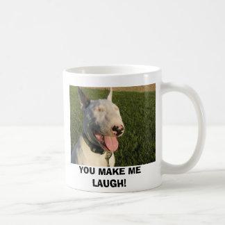 dog 630 006, YOU MAKE ME LAUGH! Classic White Coffee Mug
