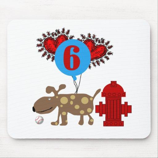 Dog 6th Birthday Mouse Pad