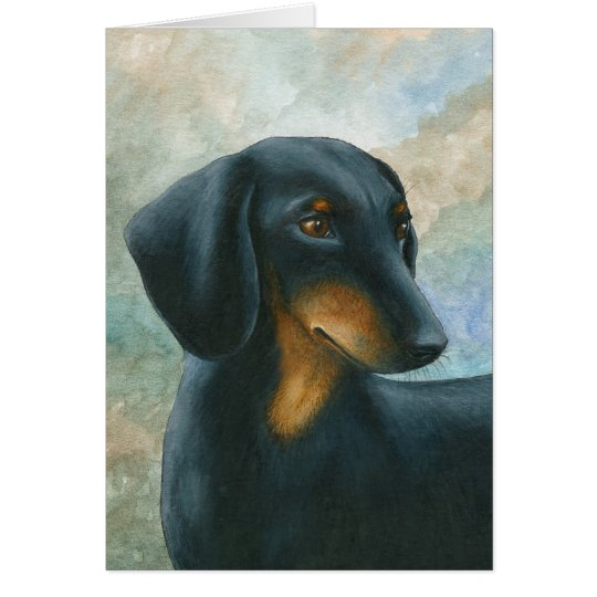 Dog 90 Dachshund Greeting Card