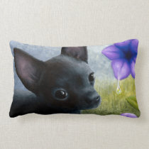 Dog 94 black Chihuahua Lumbar Pillow