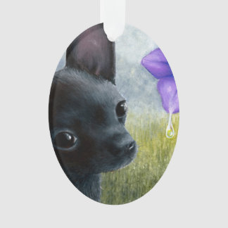 Dog 94 black Chihuahua Ornament