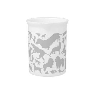 Dog a background beverage pitchers