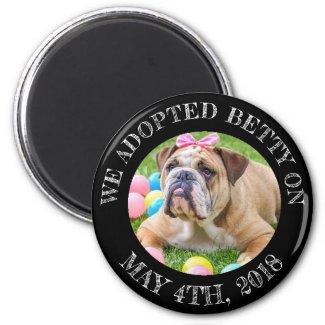 Dog Adoption Personalized Reminder Magnet