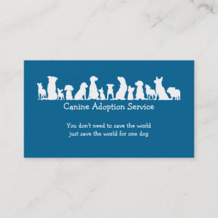 Foster adoption business cards zazzle dog adoption service business card colourmoves