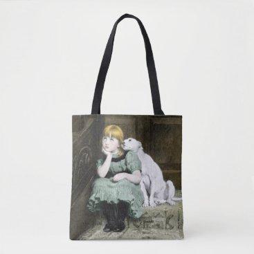ironydesignphotos Dog Adoring Girl Tote Bag