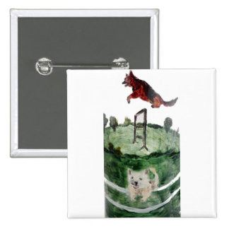 Dog Agility Painting Button