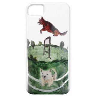 Dog Agility Painting iPhone 5 Case
