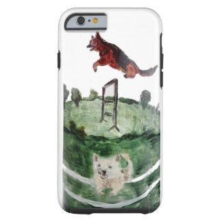 Dog Agility Painting iPhone 6 Case