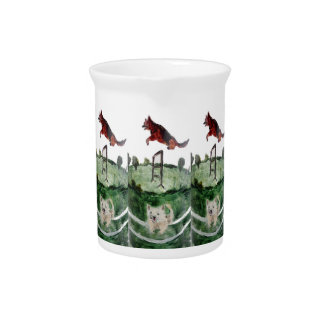 Dog Agility Painting Drink Pitcher