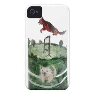 Dog Agility Painting iPhone 4 Cover