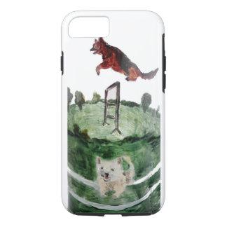 Dog Agility Painting iPhone 8/7 Case