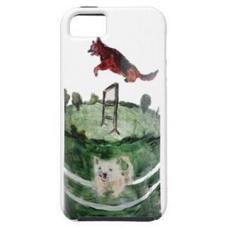 Dog Agility Painting iPhone SE/5/5s Case