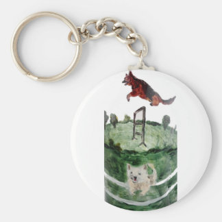 Dog Agility Painting Keychain