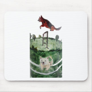 Dog Agility Painting Mouse Pad