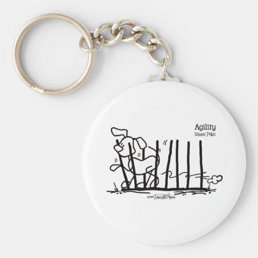 Dog Agility - Pole Dancer - agility keychain