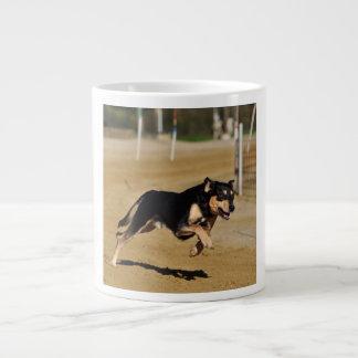 dog agility practicing large coffee mug