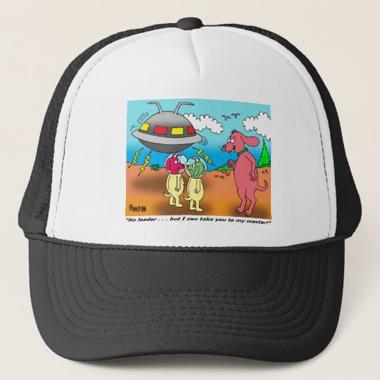 DOG ALIEN CARTOON TRUCKER HAT