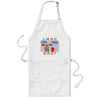 DOG ALPHABET MISSING P HUMOROUS Apron