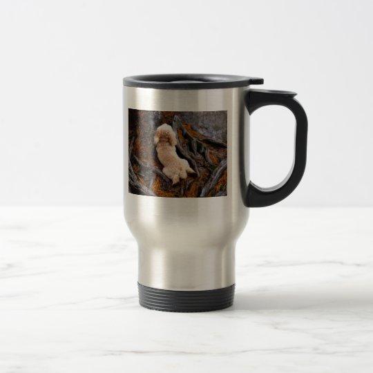 Dog Among Roots Travel Mug