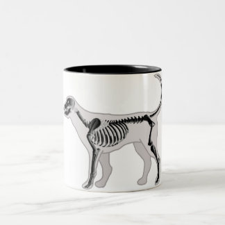 DOG ANATOMY X-RAY VET Two-Tone COFFEE MUG
