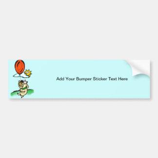 Dog and Balloon Bumper Sticker