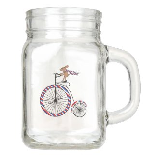 Dog and Bicycle Lovers Mason Jar