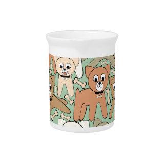 Dog and bone pitcher