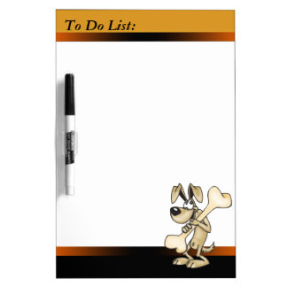 Dog and Bone To Do List Dry Erase Board