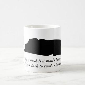 Dog and Book Quote Mug