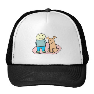 Dog And Boy Trucker Hat