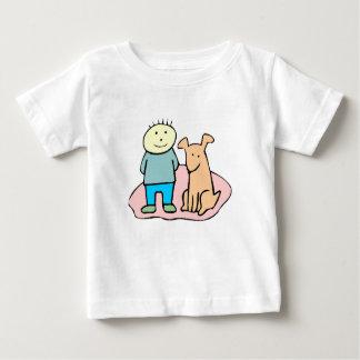 Dog And Boy T Shirt