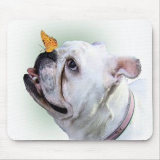 Dog and Butterfly Mousepads