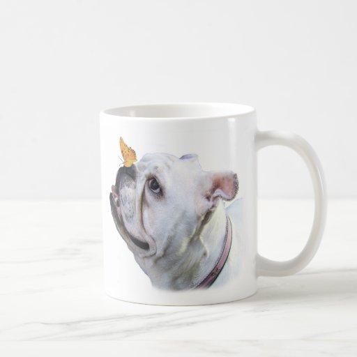 Dog and Butterfly mug