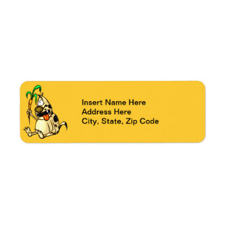 Dog and Carrot Return Address Label