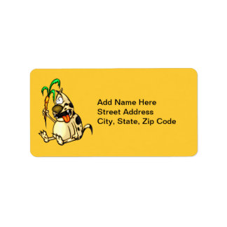 Dog and Carrot Address Label