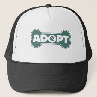 dog and cat adortion adopt trucker hat