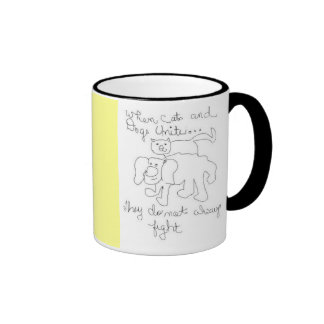 Dog and Cat are best buds Coffee Mug