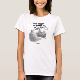 Dog and cat at the marriage/couple's counselor T-Shirt