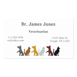 Dog and Cat Business Card