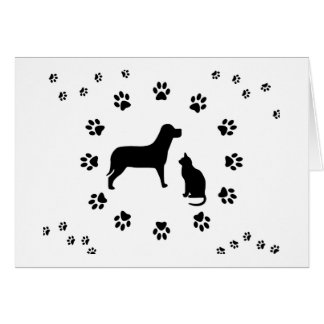 Dog and Cat Card