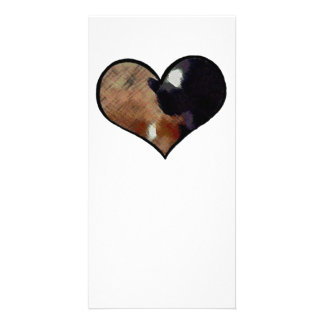 Dog and Cat Embrace in a Heart Shaped Yin Yang Card