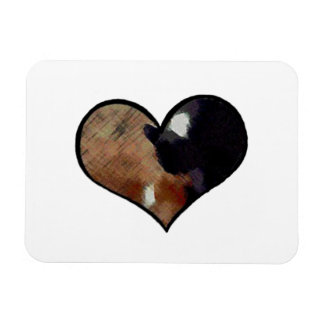 Dog and Cat Embrace in a Heart Shaped Yin Yang Vinyl Magnets