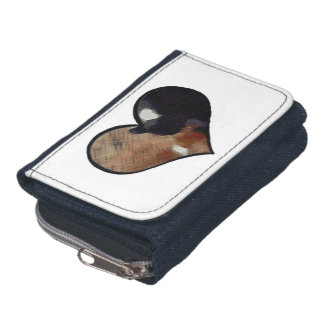Dog and Cat Embrace in a Heart Shaped Yin Yang Wallet